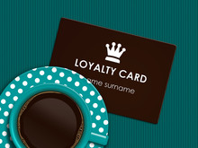 Coffee With Loyalty Card Lying...