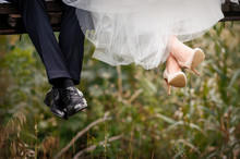 Feet Of Bride And Groom, Weddi...