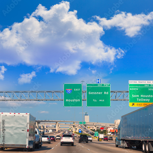Foto op Canvas Texas Houston Katy Freeway Fwy in Texas USA