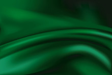 Vector Of Green Silk Background
