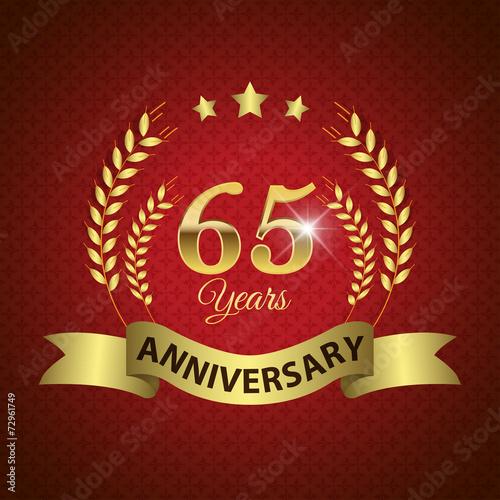 фотография  Celebrating 65 Years Anniversary, Golden Laurel Wreath & Ribbon