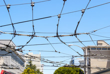 Electrics Cables Over San Francisco