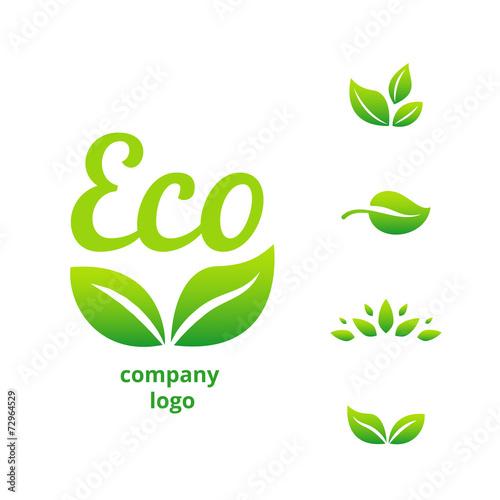Fototapeta eco logo obraz na płótnie