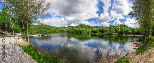 Fotografie, Obraz  Lake and forest in Minho, Portugal