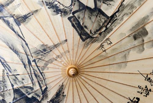 Old chinese umbrella