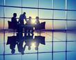 Leinwanddruck Bild - Group of Business People Meeting