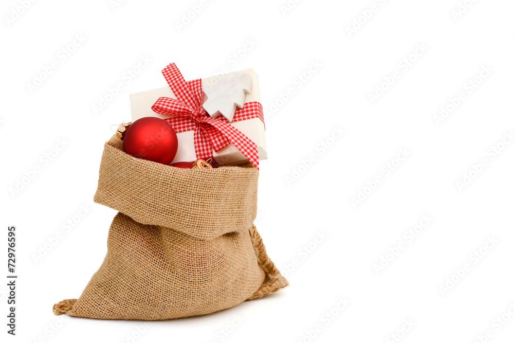 Weihnachtsgeschenke Sack.Foto Weihnachtsgeschenk Im Sack