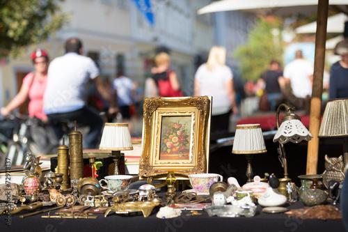 Fotografie, Tablou  Sunday flea market.