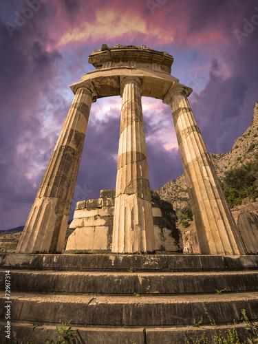 Canvas Print The Tholos, Delphi, Greece
