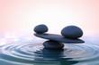 Zen stones. Sunrise