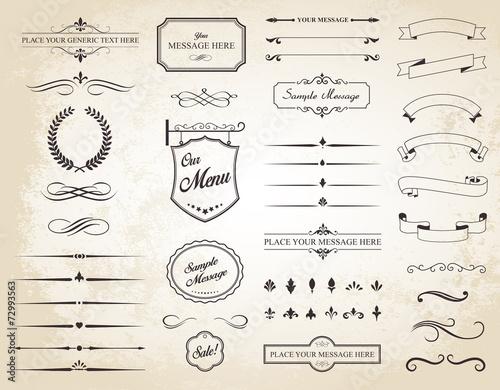 Fotografía  Vector Set of Vintage Calligraphic Elements