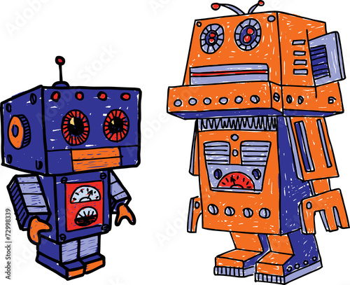 old toy robots