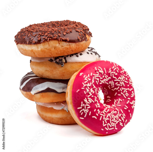 Photo  four slide donut isolated