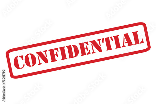 Foto  'CONFIDENTIAL' Red Stamp vector over a white background.