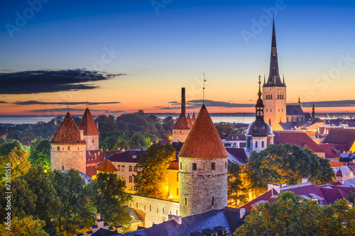 Canvas Prints Eastern Europe Tallinn, Estonia Old City