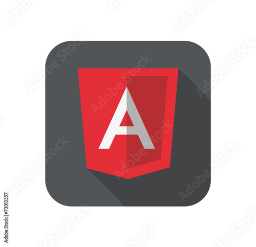 Photo vector illustration of light red shield with A on the screen