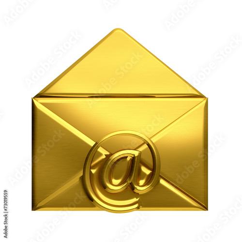 Open golden envelope email - Buy this stock illustration