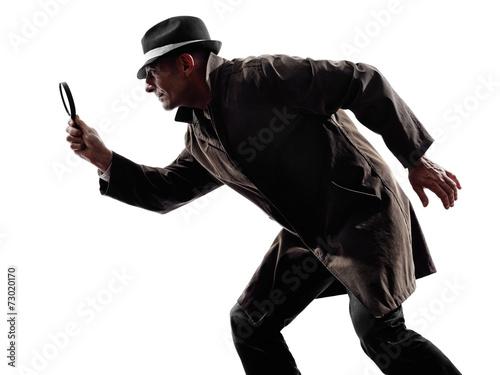 Tablou Canvas detective man criminal investigations  silhouette