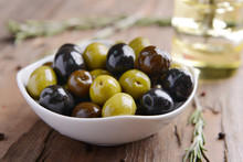 Different Marinated Olives On ...