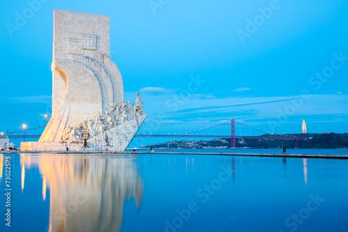 plakat pomnik odkryć z Lizbony