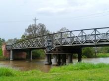 The Sale Swing Bridge Located ...