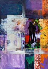 Obraz na Szkle Minimalistyczny Triptychon Shared Loneliness III