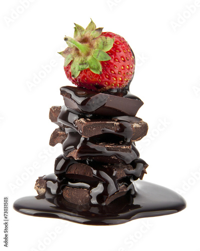 strawberry in a chocolate