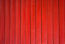 Red Painted Wooden Fence Pane...