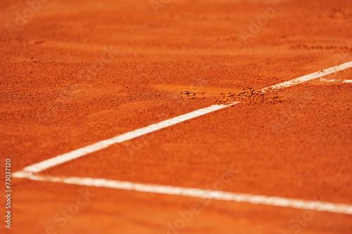 Photo  Baseline footprint on a tennis court