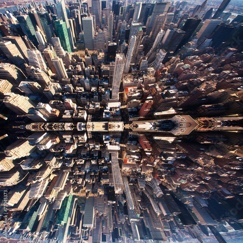 Fototapeten New York Manhattan panorama in NYC