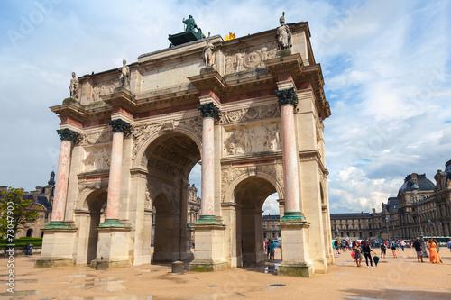 Poster Algerije Triumphal Arch in front of the Louvre museum. Paris, France