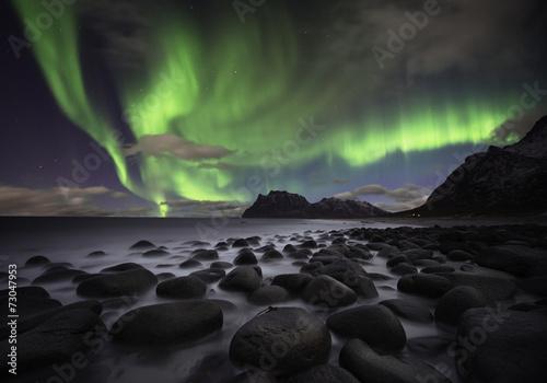 Aurora beach Poster