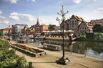 FototapetaBrda river bank in Bydgoszcz. Poland