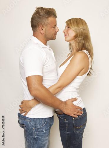 Cadres-photo bureau Artiste KB Couple embracing each