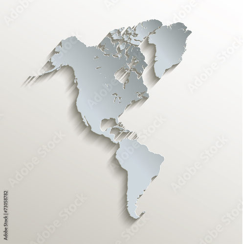 Map Of America 3d Vector.American Map White Blue Card Paper 3d Vector Buy This Stock Vector