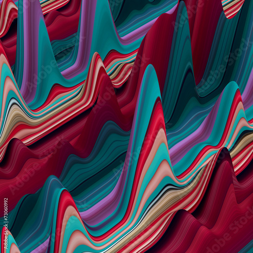 Recess Fitting Bordeaux abstract colorful wavy lines, 3d background