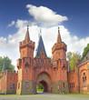 The entrance gate to Red castle Hradec nad Moravici, Czech