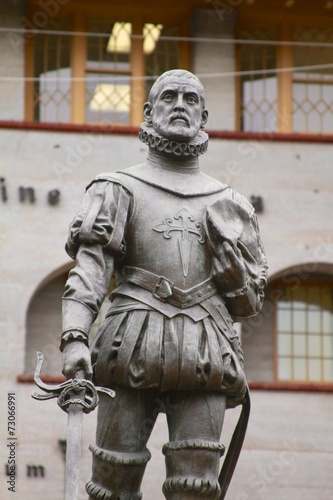 Ponce de Leon statue in St. augustine Canvas-taulu