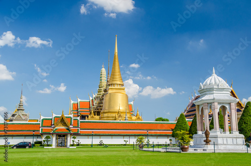 In de dag Bangkok Temple of the Emerald Buddha, Wat Phra Kaew, Bangkok, Thailand