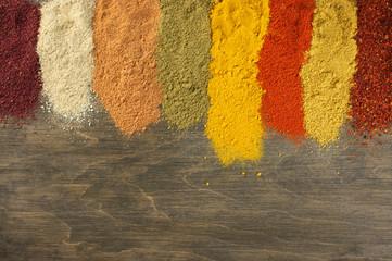 Panel Szklany Przyprawy Assorted powder spices