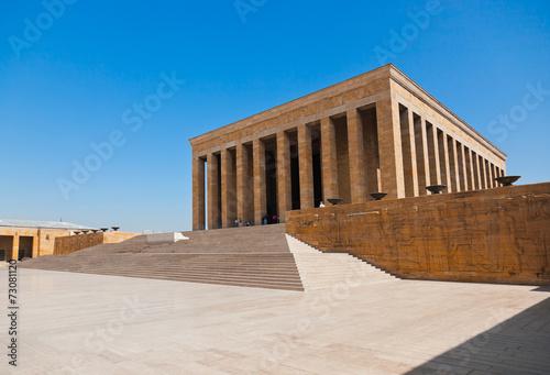 Obraz na płótnie Mustafa Kemal Ataturk mausoleum in Ankara Turkey