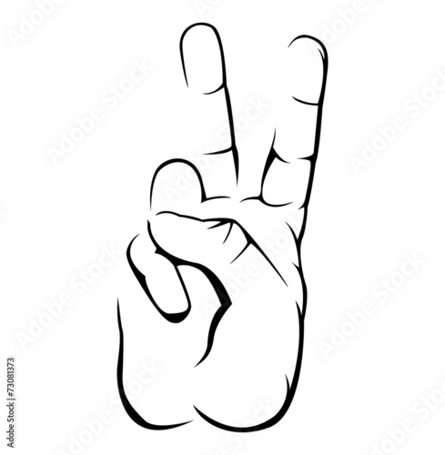 Peace Hand Simple Symbol Poster