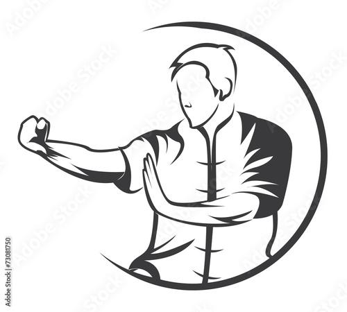 Stampa su Tela martial art symbol
