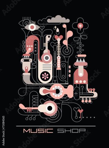 Cadres-photo bureau Art abstrait Music shop