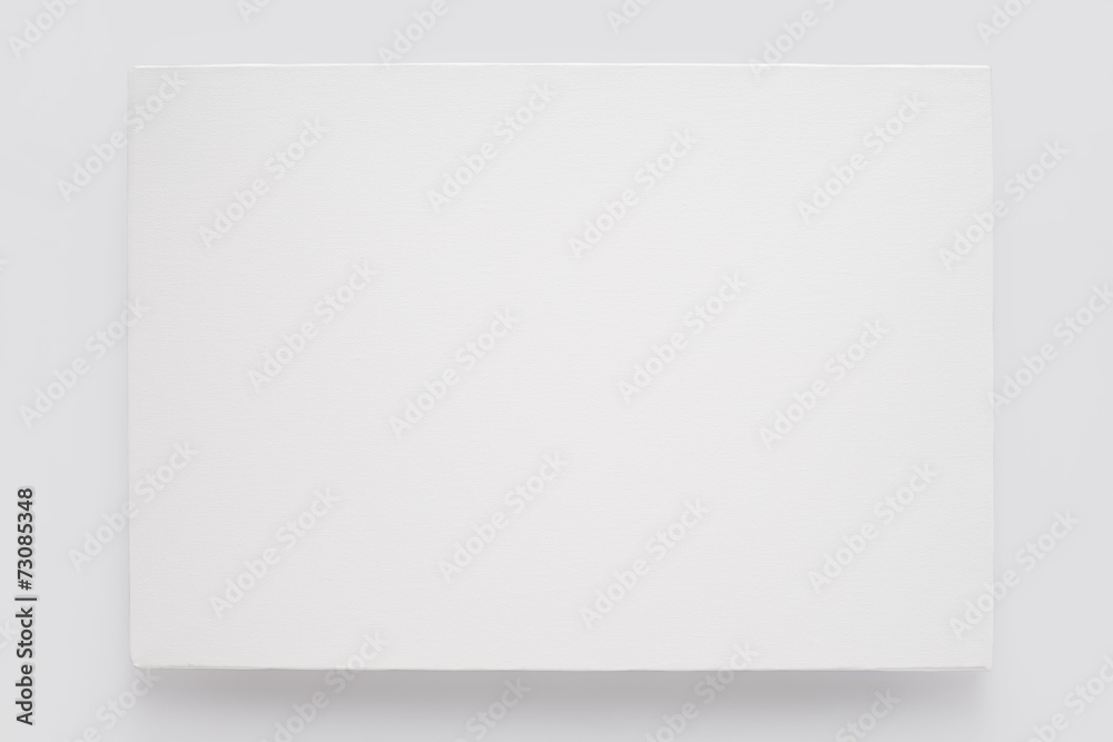 Fototapety, obrazy: White canvas on stretcher on white wall, clipping path