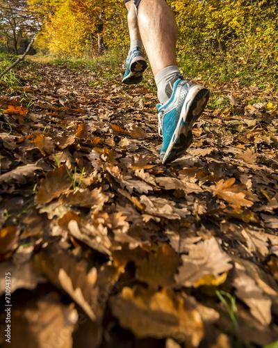Photo  jogger im Herbst