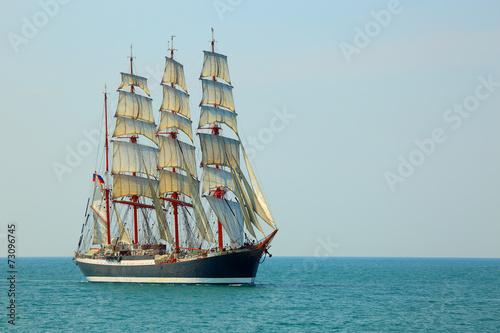 Photo Stands Ship beautiful old sailing ship