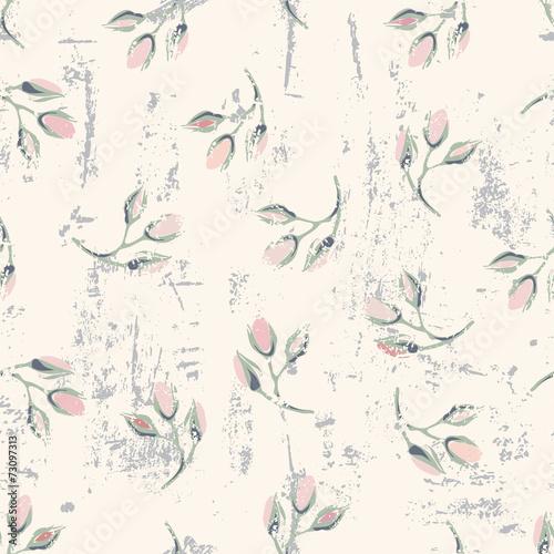 grungy-kwiatowy-wzor