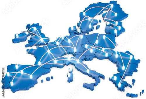 Obraz EU Netzwerk - fototapety do salonu