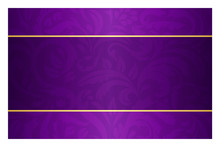 Purple Card With Vintage Patte...